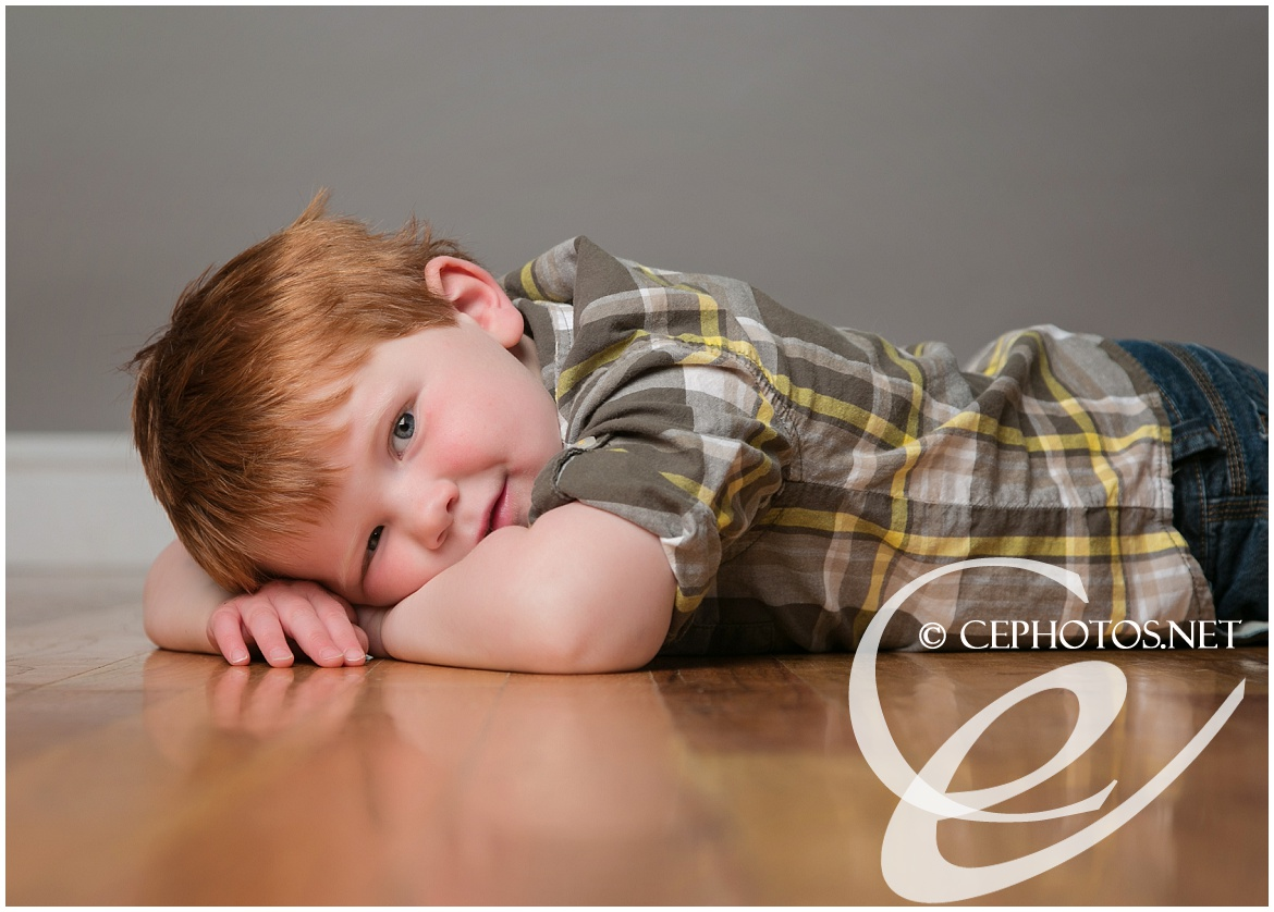 red headed toddler by Contemporary Expressions Photography